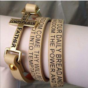 Lord's Prayer Bracelet in Ivory